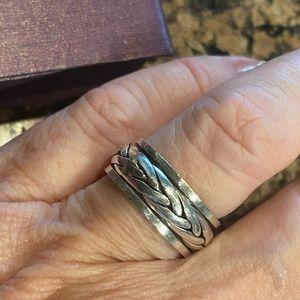 Silver Handmade Spinning Ring